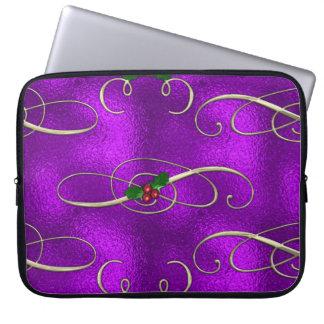 Housse Pour Ordinateur Portable Remous lilas romantiques de Noël