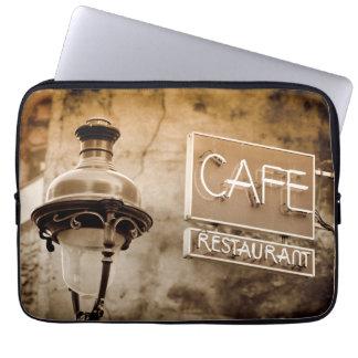 Housse Pour Ordinateur Portable Signe de café de sépia, Paris, France