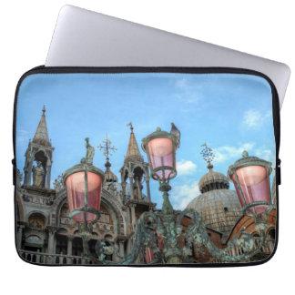 Housse Pour Ordinateur Portable St Marques et lampe, Venise, Italie