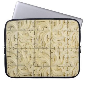 Housse Pour Ordinateur Portable stuc d'architecture de texture de motif de