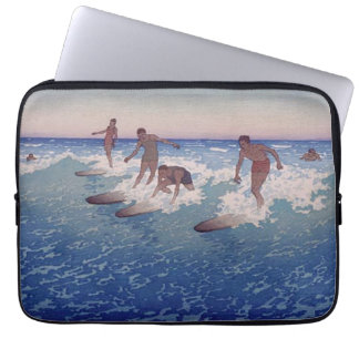 """Housse Pour Ordinateur Portable """"Surf-Cavaliers, Honolulu"""" - Charles W. Bartlett"""