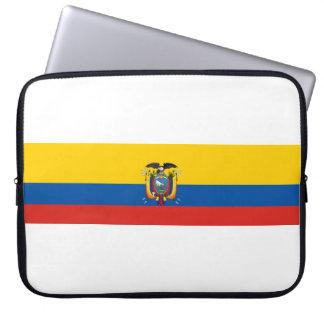 Housse Pour Ordinateur Portable Symbole de drapeau de pays de l'Equateur longtemps