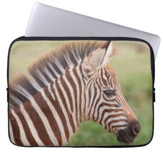 Housse Pour Ordinateur Portable Tête de zèbre de bébé, Tanzanie
