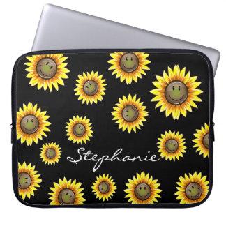 Housse Pour Ordinateur Portable Tournesol de sourire de Sunkissed