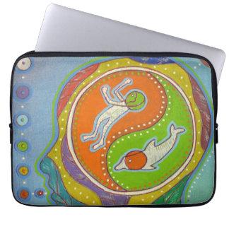 Housse Pour Ordinateur Portable Vegan Yin Yang computer cover