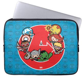Housse Pour Ordinateur Portable Vengeurs de Kawaii à l'intérieur d'Un-Logo