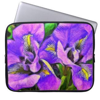 Housse Pour Ordinateur Portable Violette de couleur d'iris