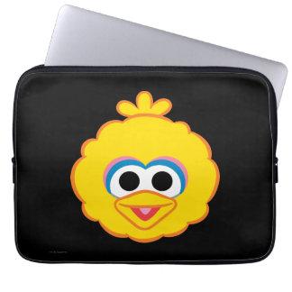 Housse Pour Ordinateur Portable Visage de sourire de grand oiseau