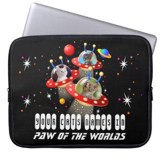 Housse Pour Ordinateur Portable Vos chats dans un film étranger d'UFO Sci fi de