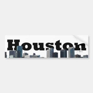 Houston, horizon de TX avec Houston dans le ciel Autocollant Pour Voiture