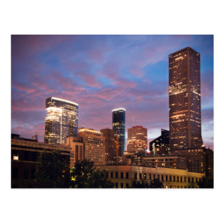 Houston la nuit carte postale