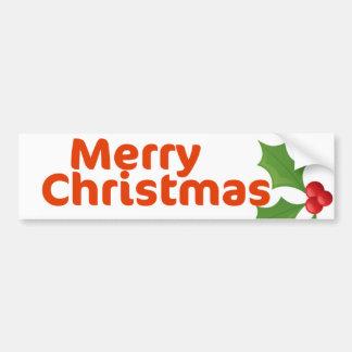 Houx de Joyeux Noël Autocollant De Voiture