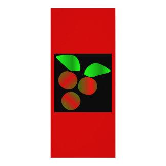 Houx de Noël II Carton D'invitation 10,16 Cm X 23,49 Cm