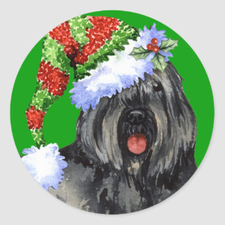 Howliday heureux Bouvier Sticker Rond