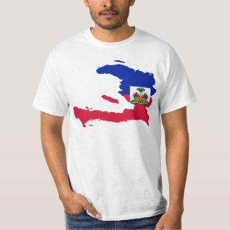 HT de carte de drapeau du Haïti T-shirt
