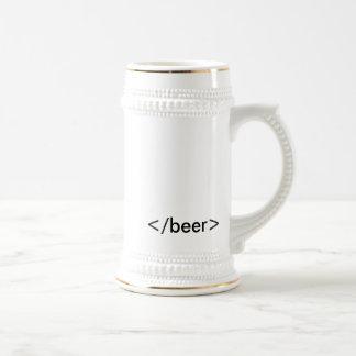 HTML <beer> Stein Chope À Bière