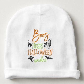 Hue des sifflements et des souhaits de Halloween Bonnet De Bébé
