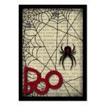 Huez l'araignée de veuve noire et le texte déplais modèle de carte de visite