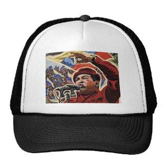 Hugo Chavez - style de révolution de bande dessiné Casquettes