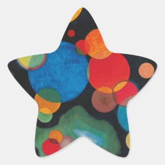 Huile approfondie d'abrégé sur impulsion sur la sticker étoile