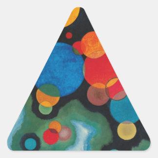 Huile approfondie d'abrégé sur impulsion sur la sticker triangulaire