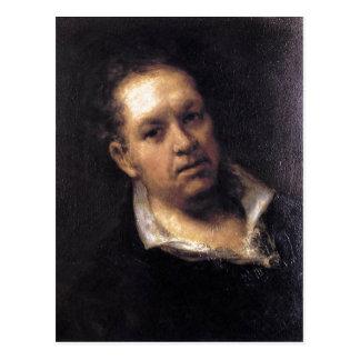 Huile de l'autoportrait 1815 de Goya sur le pannea Cartes Postales