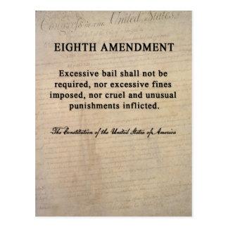 Huitième cartes postales d'amendement