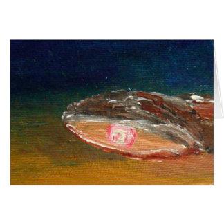 Huître avec la perle - carte de voeux