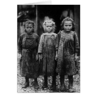 Huître Shuckers, les années 1900 tôt de jeune Carte De Vœux