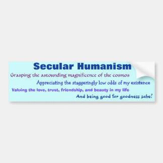 Humanisme laïque autocollant de voiture