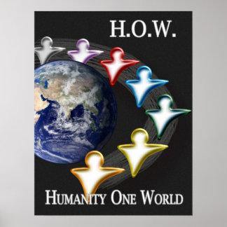 Humanité une affiche du monde