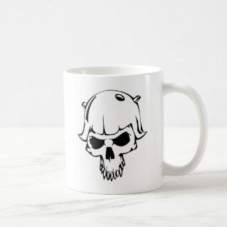 HumanSkull Mug Blanc