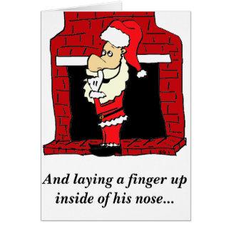 Humeur de carte de Noël de sélection de nez de