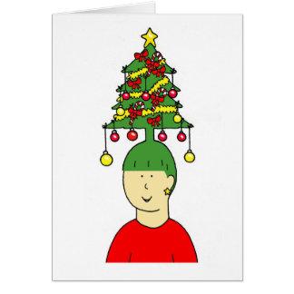 Humeur de coiffure de Noël Carte De Vœux