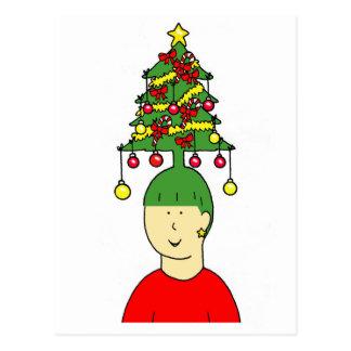 Humeur de coiffure de Noël Carte Postale