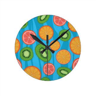 Humeur de fruit horloge ronde
