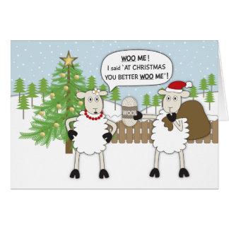 Humeur de moutons de Noël Carte De Vœux