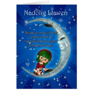 Humeur de Nadolig Llawen de carte de Noël de