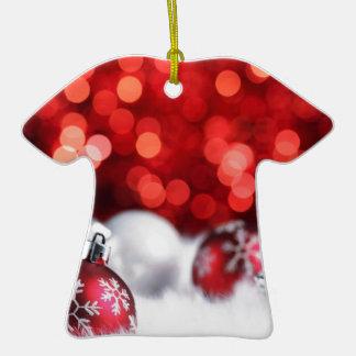 Humeur de Noël de Delood Ornement T-shirt En Céramique