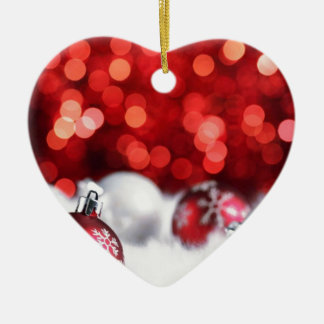 Humeur de Noël de Delood Ornement Cœur En Céramique