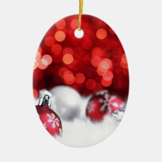 Humeur de Noël de Delood Ornement Ovale En Céramique