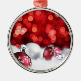 Humeur de Noël de Delood Ornement Rond Argenté