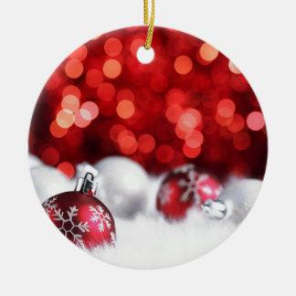Humeur de Noël de Delood Ornement Rond En Céramique
