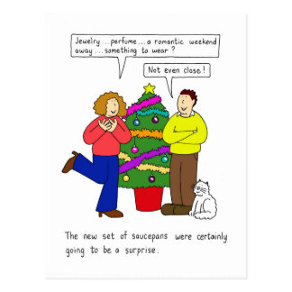Humeur de rapport, le cadeau pratique de Noël Carte Postale