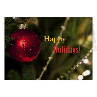 Humeur de vacances de Noël Cartes De Vœux