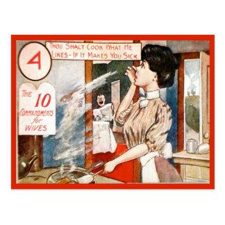 Humeur vintage, 10 commandements pour des épouses carte postale