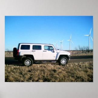 Hummer et énergie éolienne affiches