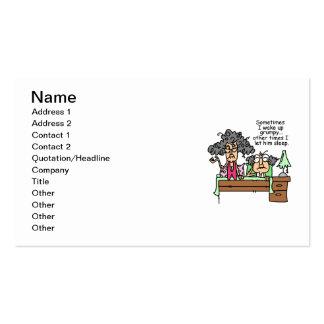Humoristique laissez le sommeil grincheux carte de visite standard