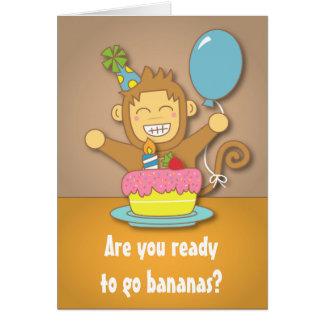 Humoristiques, vont les bananes, anniversaire mign cartes de vœux