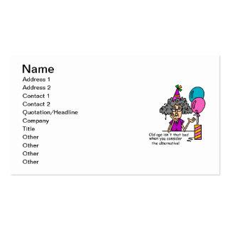Humour alternatif d anniversaire cartes de visite professionnelles